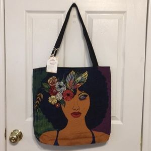 SHADES OF COLOR WOVEN TOTE BAG